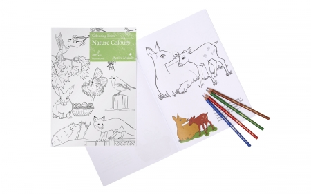 Nature Colours - Colouring Book