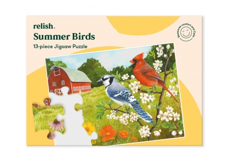 Summer Birds - Jigsaw Puzzle - 13 Pieces