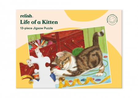 Life of a Kitten - Jigsaw Puzzle - 13 Pieces