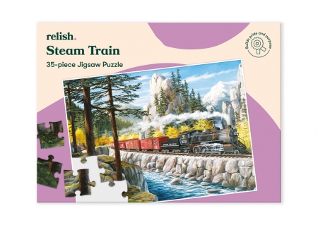 Steam Train - Jigsaw Puzzle - 35 Pieces