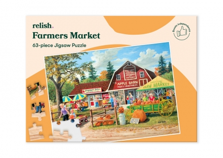 Farmers Market - Jigsaw Puzzle - 63 Pieces