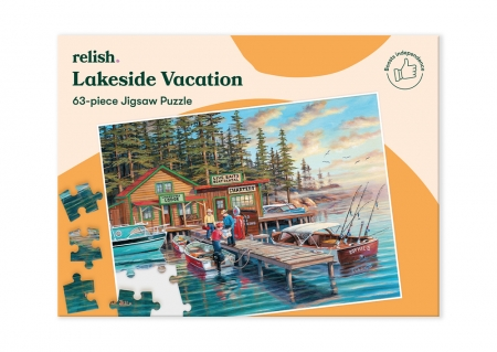 Lakeside Vacation - Jigsaw Puzzle - 63 Pieces