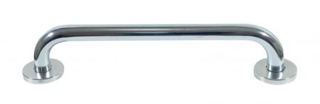 Polished Chrome Steel Grab Bar - 600mm (24 Inch)