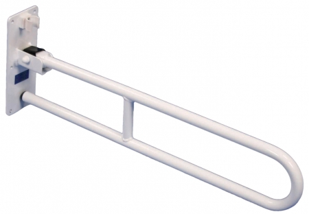 Solo Contract Hinged Arm Support - 750mm - White - Without Leg