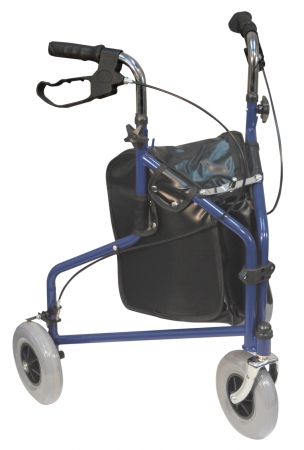 Three Wheeled Steel Walkers - Different Colours Available