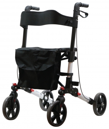 Deluxe Fold Flat Rollator - Different Colours Available