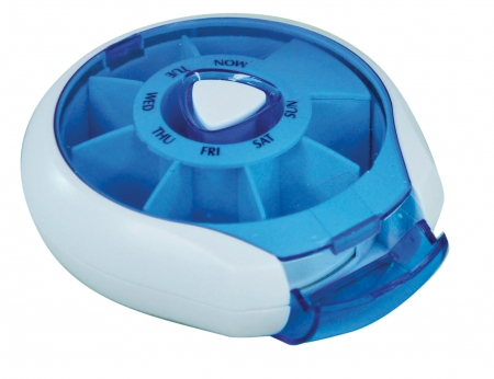 Compact Weekday Pill Dispenser - Different Colours Available