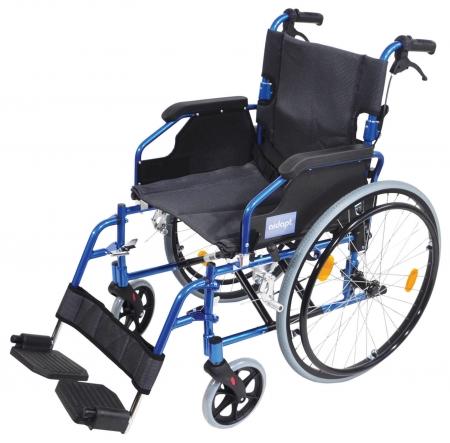 Aidapt Deluxe Lightweight Self Propelled Aluminium Wheelchair - Blue