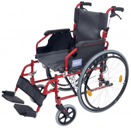 Aidapt Deluxe Lightweight Self Propelled Aluminium Wheelchair - Red