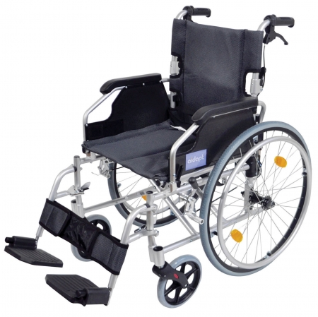 Aidapt Deluxe Lightweight Self Propelled Aluminium Wheelchair - Silver