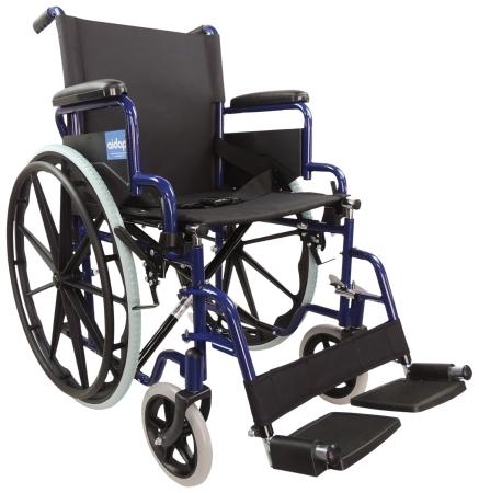 Aidapt Self Propelled Steel Transit Chair - Blue