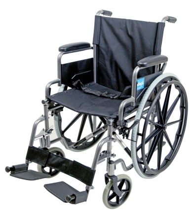 Aidapt Self Propelled Steel Transit Chair - Hammered Effect