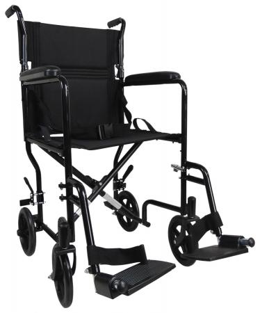 Aidapt Steel Compact Transit Chair - Black
