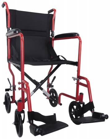 Aidapt Steel Compact Transit Chair - Red