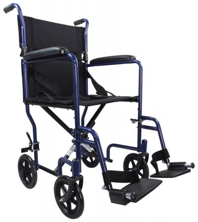 Aidapt Steel Compact Transit Chair - Blue