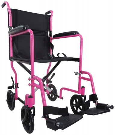 Aidapt Steel Compact Transit Chair - Pink