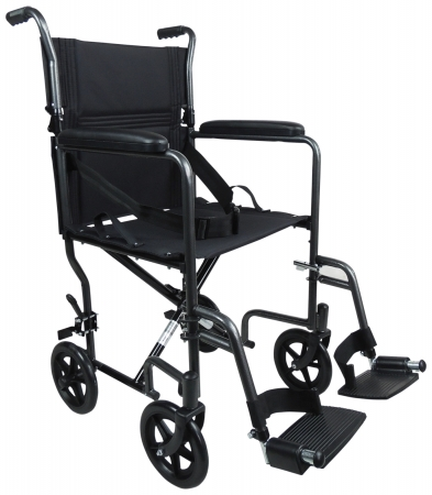 Aidapt Steel Compact Transit Chair - Hammered Effect