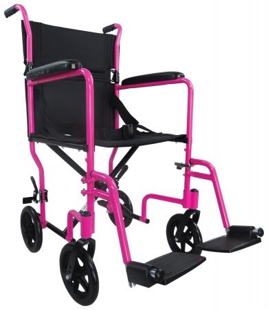 Aidapt Aluminium Compact Transit Chair - Pink