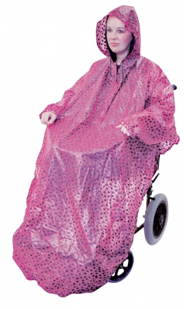 Wheelchair Mac With Sleeves - Pink Polka Dot