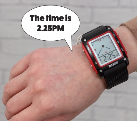 Water Resistant Talking Digital Watch