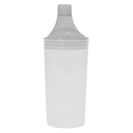 Clear Drinking Cup With Two Lids