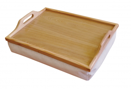 Wooden Lap Tray With Cushion