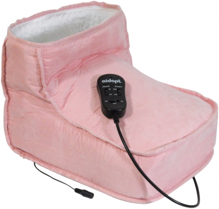 Electric Dual Speed Soft Massaging Foot Boot with Heat - Pink