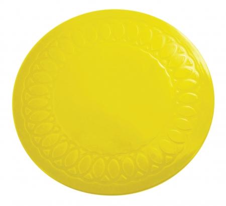 Tenura Anti Slip Round Coasters 14 cm - Yellow