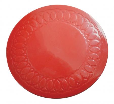 Tenura Anti Slip Round Coasters 19 cm - Red