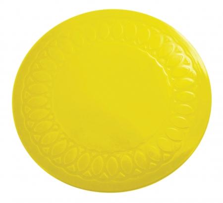 Tenura Anti Slip Round Coasters 19 cm - Yellow