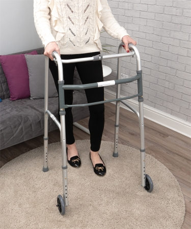 Folding Walking Frame - With Wheels