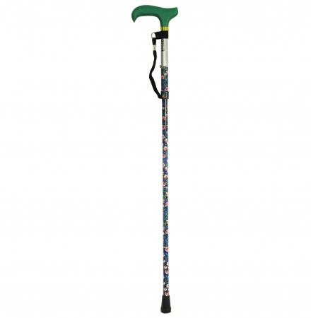 Deluxe Folding Walking Stick - Emerald