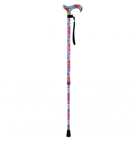 Deluxe Patterned Walking Cane - Floral