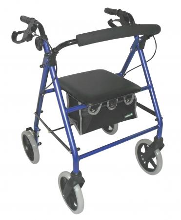 Lightweight Alluminium Rollator - Blue