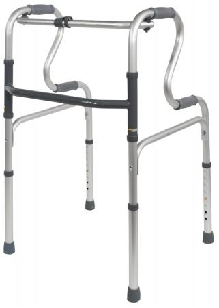 Dual Riser Folding Walking Frame - Without Wheels