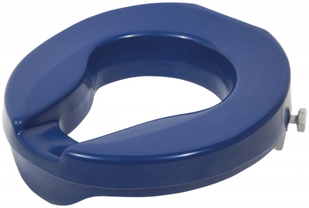 Easy Fit Raised Toilet Seat - Blue - 2 Inches
