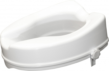 Viscount White Raised Toilet Seat - 4 inches