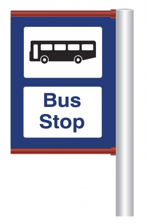 Bus Stop Sign and Post