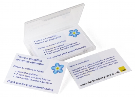 Patient Cards - For a Person with Dementia - Different Quantities Available