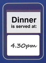 Pack of 5, A6 header cards for Menu Board
