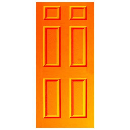 Door Decal - Dementia Friendly - Orange