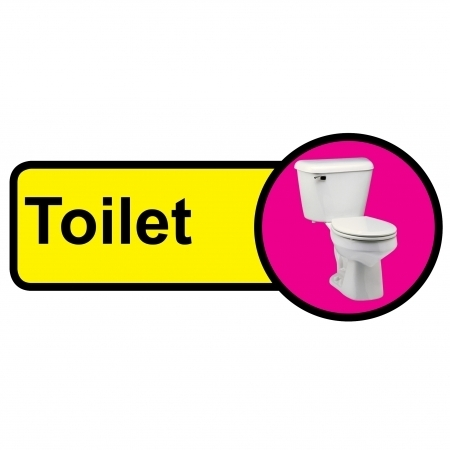 Toilet Sign Dementia Friendly - 480mm x 210mm