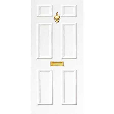 Door Decal Dementia Friendly with Letterbox and Knocker - White